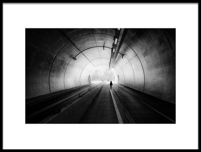 Art print titled    the End of the Tunnel    by the artist jerome perdriolle