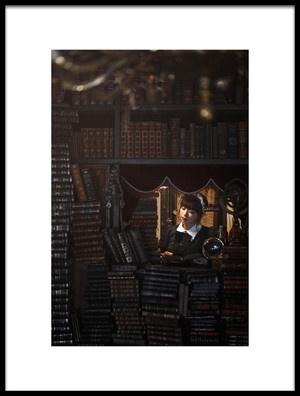 Art print titled  La Biblioteca De Babel by the artist Yasuhiro Ujiie