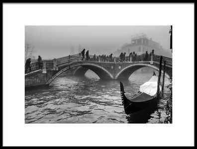 Art print titled  Tre Ponti  Three Bridges by the artist Stefano Avolio