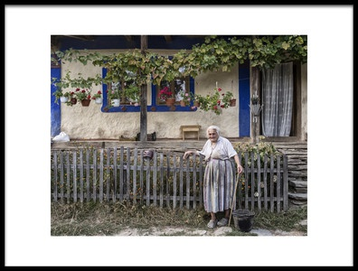 Art print titled 98 Years Old by the artist Andrei Nicolas - The Traveler