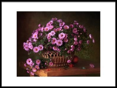 Art print titled A Basket of Flowers by the artist Tatyana Skorokhod (Татьяна Скороход)