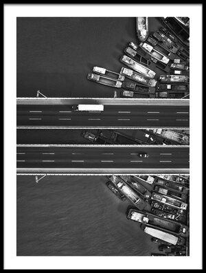 Buy this art print titled A Bridge Full of Ships by the artist Zhou Chengzhou