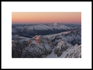 Art print titled A Cold Sunrise by the artist Matteo Gasparin