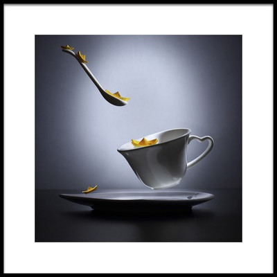 Art print titled A Cup of Tea for a Daydreamer by the artist Victoria Ivanova