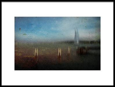 Art print titled A Day at the Lake by the artist Orkidea W.