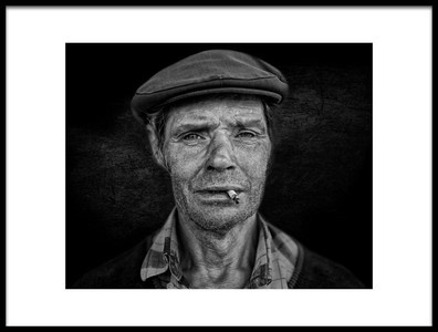Art print titled A Face a Life Story 4 by the artist Rui Ribeiro