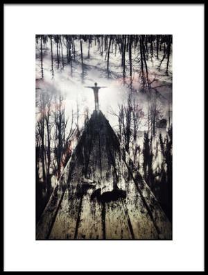 Art print titled A Fall by the artist Martin Cekada
