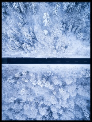 Art print titled A Frosty Road by the artist Daniel Fleischhacker