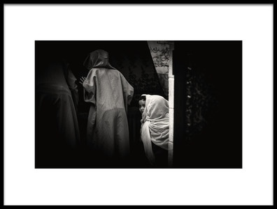 Art print titled A Glance of a Child by the artist Rabia Basha