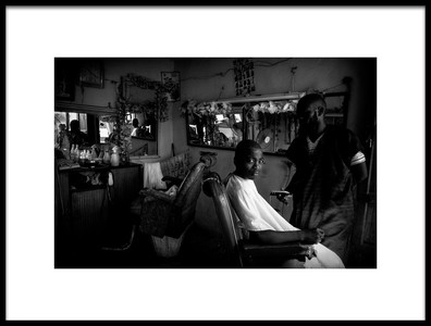 Art print titled A Hairdressers Salon Ethiopia by the artist Joxe Inazio Kuesta Garmendia