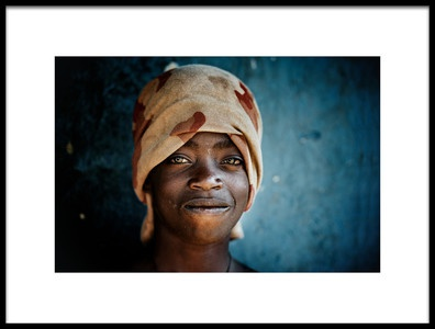 Art print titled A Hint of a Smile by the artist Trevor Cole
