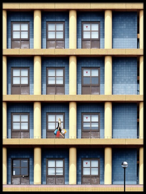 Buy this art print titled A Joyful Day In Urban Matrix by the artist Dr. Akira TAKAUE