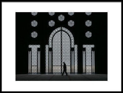 Art print titled A La Mosque Hassan II by the artist Nadine RISSE