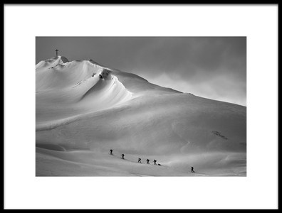 Art print titled A Long Way Up by the artist Oliver Buchmann
