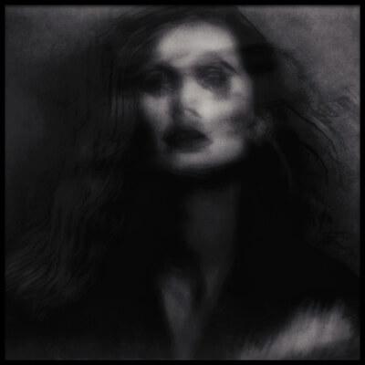 Art print titled A Quiet Darkness (portrait) by the artist Dalibor Davidovic