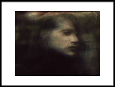 Art print titled A Quiet Darkness Portrait by the artist Dalibor Davidovic