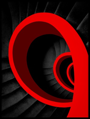 Buy this art print titled A Red Spiral by the artist Inge Schuster