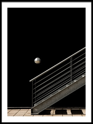 Art print titled A Staircase and a Lamp by the artist Inge Schuster
