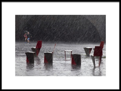 Art print titled A Sudden Downpour by the artist Marc Apers