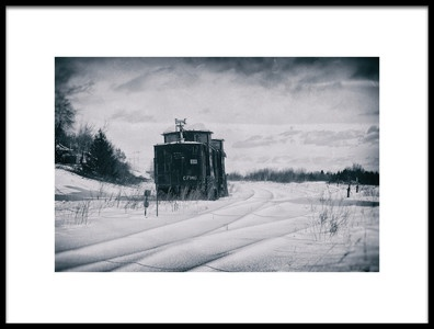 Art print titled A Train to Nowhere by the artist Christian Duguay