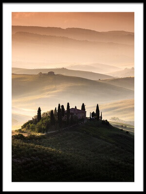 Art print titled A Tuscan Country Landscape by the artist Sus Bogaerts