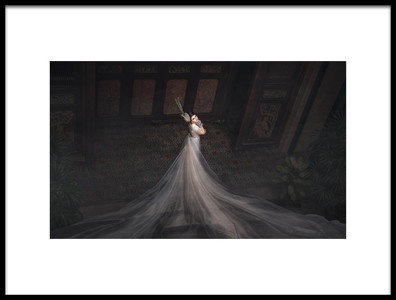 Art print titled A Waiting for Someone by the artist Taman Tan