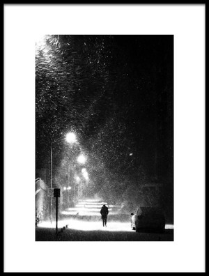 Buy this art print titled A Winter Night by the artist AdemHabibe
