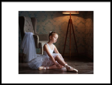 Art print titled About a Little Ballerina 3 by the artist Alina Lankina