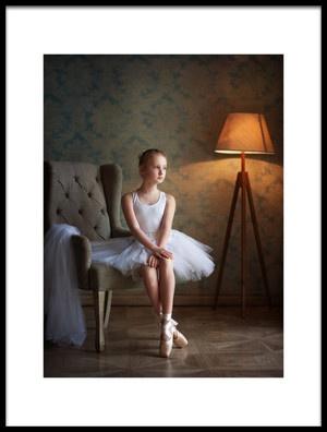 Art print titled About a Little Ballerina by the artist Alina Lankina