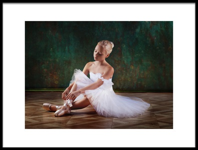 Art print titled About Ballet by the artist Alina Lankina