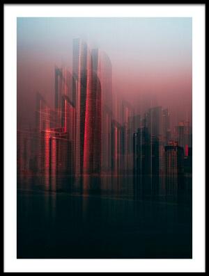 Art print titled Abu Dhabi Skyline by the artist Carmine Chiriacò