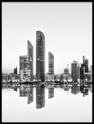 Buy this art print titled Abu Dhabi Urban Reflection by the artist Akhter Hasan