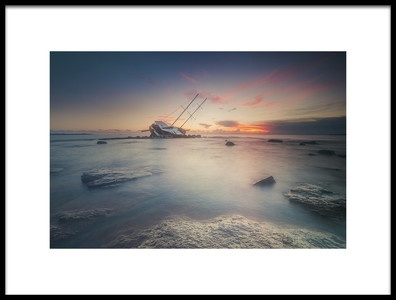 Art print titled Adrift by the artist Daniele Atzori