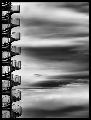 Art print titled Aerial Helix by the artist Tomoshi Hara