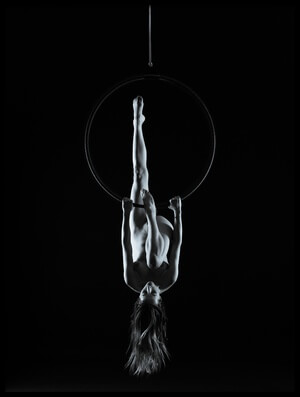 Buy this art print titled Aerial Hoop by the artist bicibici