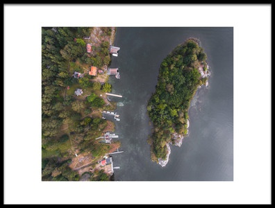 Art print titled Aerial Nynshamn by the artist Philip Slotte