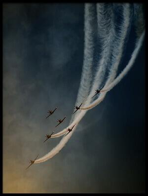 Art print titled Air Show by the artist Antonio Grambone