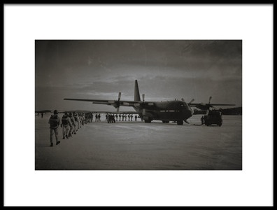 Art print titled Airborne1 the Loading by the artist Martin Van Hoecke