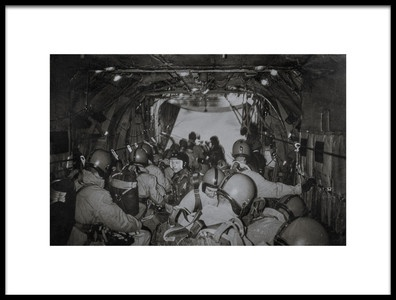 Art print titled Airborne2 the Lineup by the artist Martin Van Hoecke