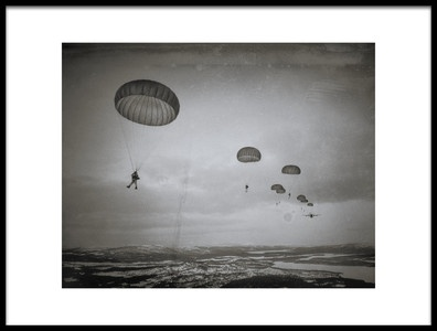 Art print titled Airborne4 In the Air by the artist Martin Van Hoecke