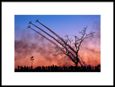Buy this art print titled Airshow In Bucharest, Romania by the artist Dan Mirica