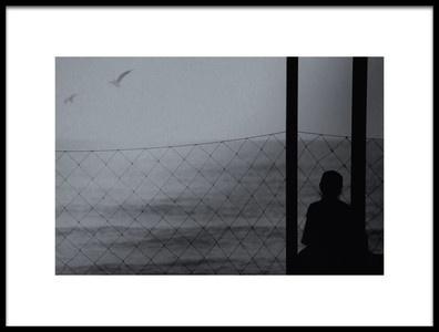 Art print titled Alone , In the Sea by the artist Teruhiko Tsuchida