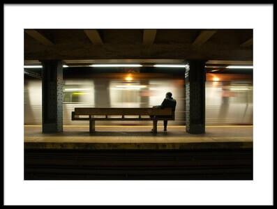 Art print titled Alone Again by the artist Giacomo Bruno