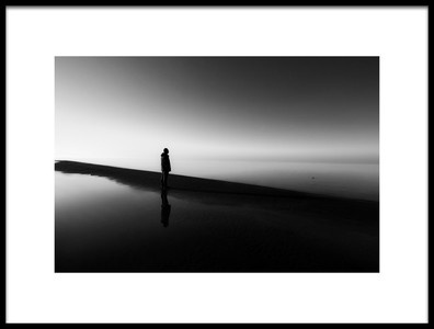 Art print titled Alone Among Light and Darkness by the artist farshad boroomand