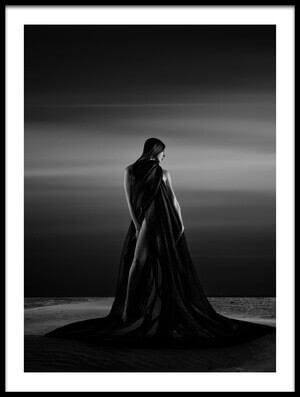 Art print titled Alone In the Sand by the artist Patrick Odorizzi
