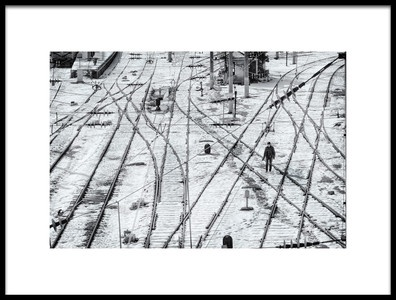 Art print titled Along the Rails by the artist Nihal Eken