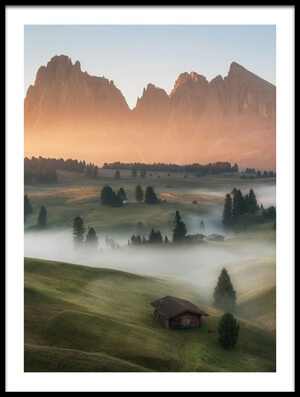 Art print titled Alpe Di Siusi by the artist Ales Krivec