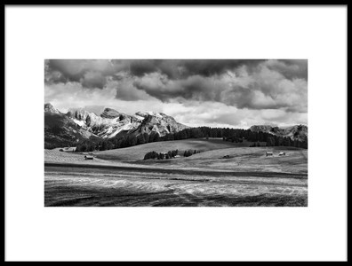 Art print titled Alpe Di Suisi II by the artist Marcel Rebro
