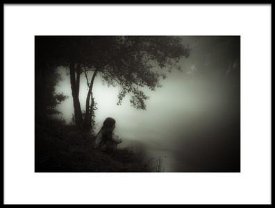 Art print titled Am Nebelfluss by the artist Markus Hendel