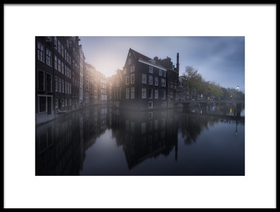Art print titled Amsterdam Morning I by the artist Carlos F. Turienzo